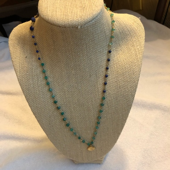 Stella & Dot Jewelry - Stella & Dot La Folie green and blue necklace